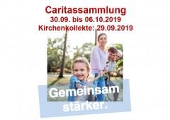 """""""Gemeinsam stärker."""" Caritas-Herbstsammlung 30.09. bis 06.10.2019"""
